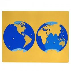 Puzzle harta oceanelor