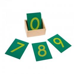 Numere din glasspapier cu...