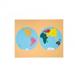 Puzzle Harta Continente